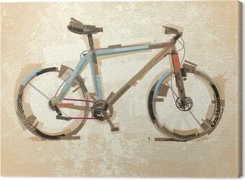 Leinwandbild Weinlese-Fahrrad