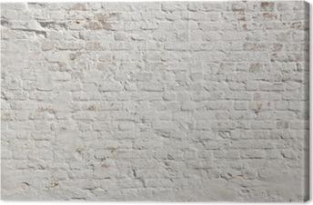 Leinwandbild Weiß Grunge Mauer Hintergrund