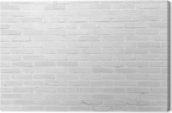 Leinwandbild Weiß Grunge Mauer Textur Hintergrund