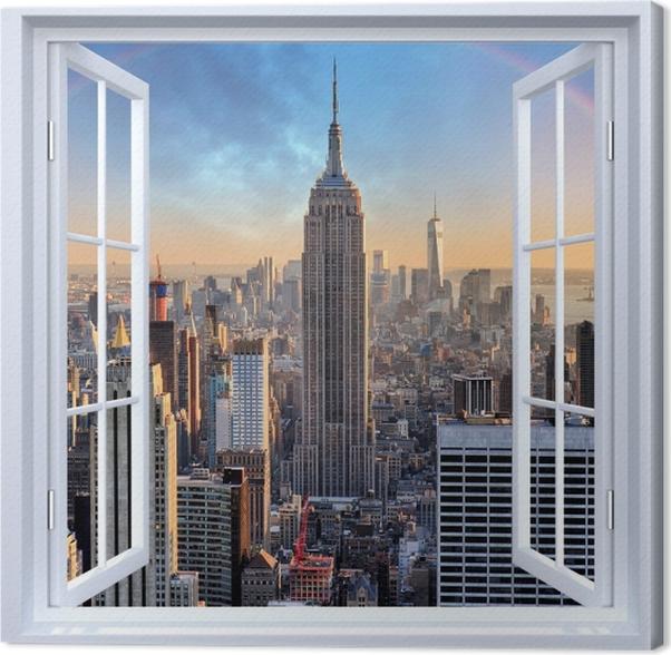 leinwandbild weiß offenes fenster  new york • pixers