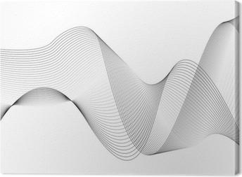 Leinwandbild Wellen und linien