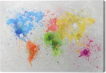 Leinwandbild Weltkarte Malerei