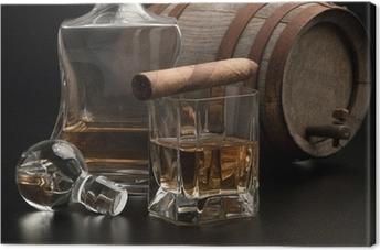 Leinwandbild Whisky & Sigaro