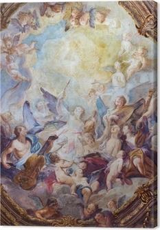 Leinwandbild Wien - Barock Engel Chöre Fresko vom Michaelerkirche