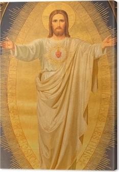 Leinwandbild Wien - Herz von Jesus malen auf Altar der Kirche Sacré-Coeur