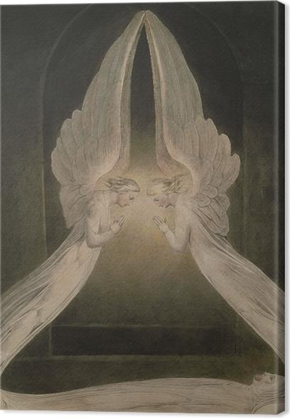 Leinwandbild William Blake - Christus im Grab, von Engeln bewacht - Reproduktion