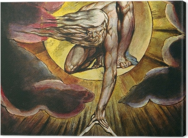 Leinwandbild William Blake - Der Alte der Tage (Gott als Architekt) - Reproduktion
