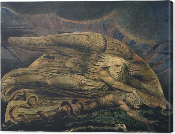 Leinwandbild William Blake - Elohim erschafft Adam - Reproduktion