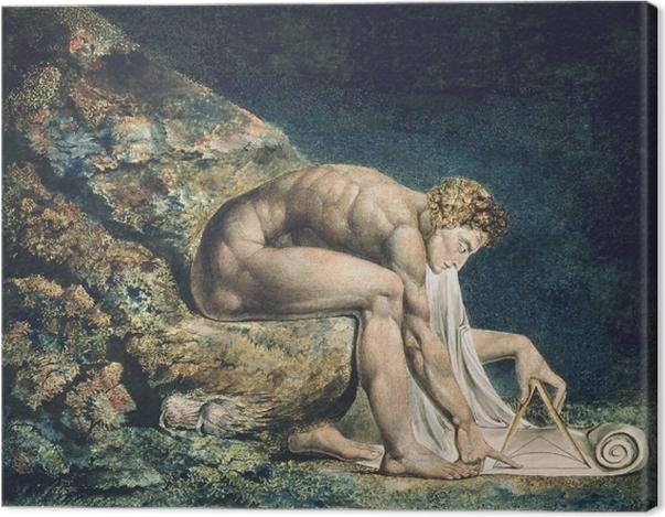 Leinwandbild William Blake - Newton - Reproduktion