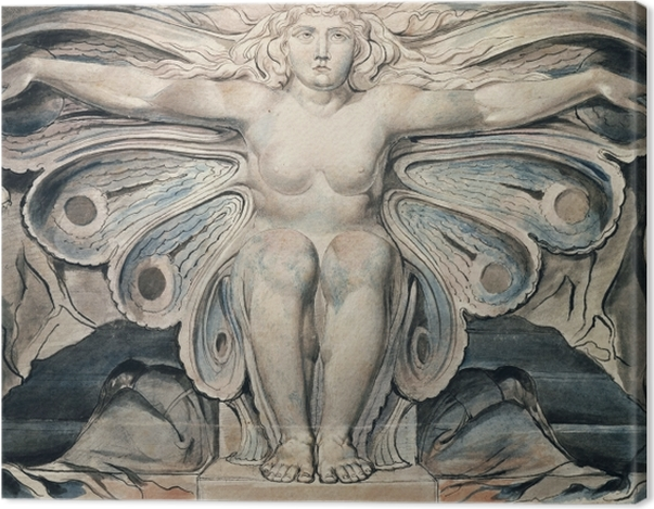 Leinwandbild William Blake - Personifikation des Grabes - Reproduktion