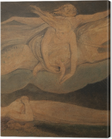 Leinwandbild William Blake - Pity (Das Mitleid) - Reproduktion