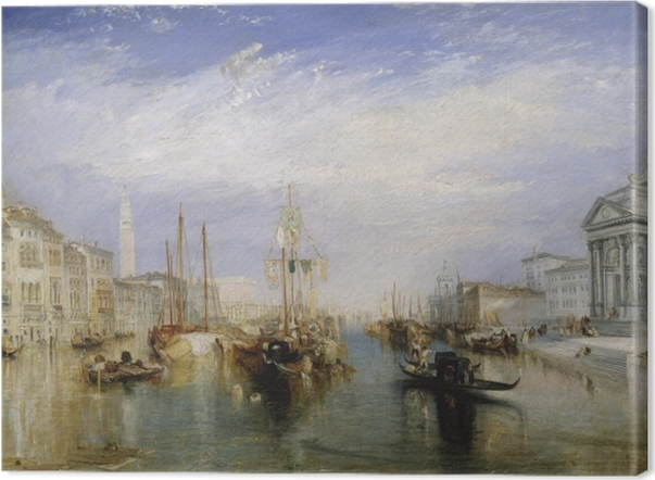 Leinwandbild William Turner - Canal Grande - Reproduktion