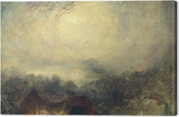 Leinwandbild William Turner - Der Abend der Sintflut - Reproduktion