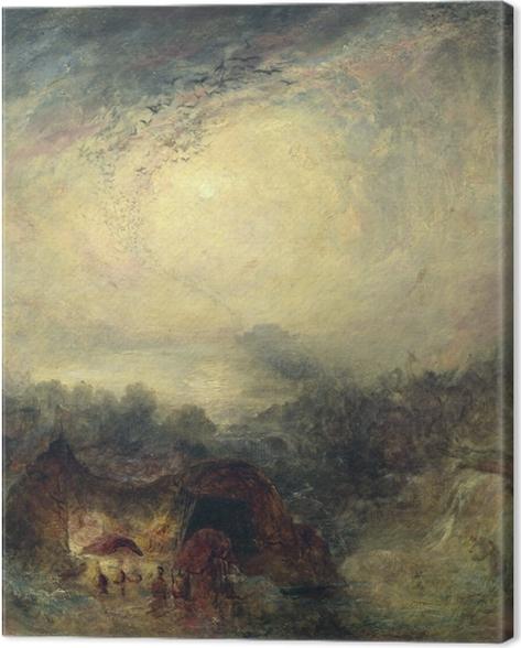 Leinwandbild William Turner - Der Abend der Sintflut - Reproduktion