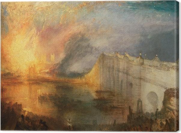 Leinwandbild William Turner - Der Brand des Ober- und Unterhauses - Reproduktion