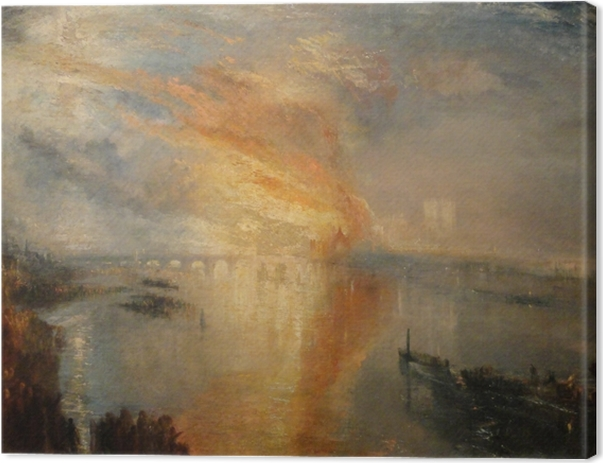 Leinwandbild William Turner - Der Brand des Parlamentsgebäudes in London - Reproduktion