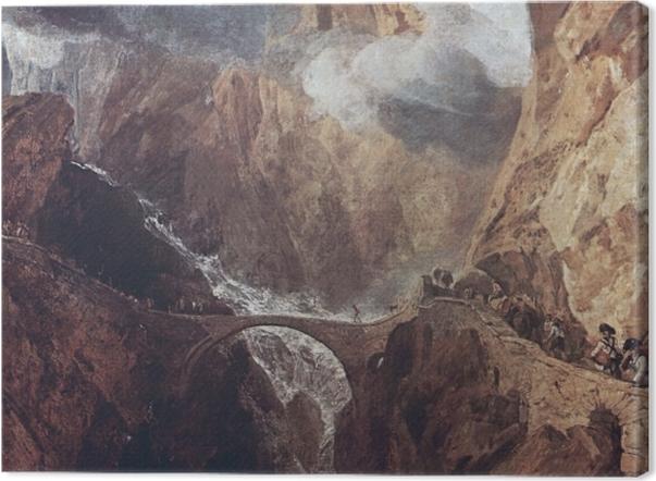 Leinwandbild William Turner - Der Gotthardpass - Reproduktion
