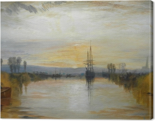 Leinwandbild William Turner - Der Kanal von Chichester - Reproduktion