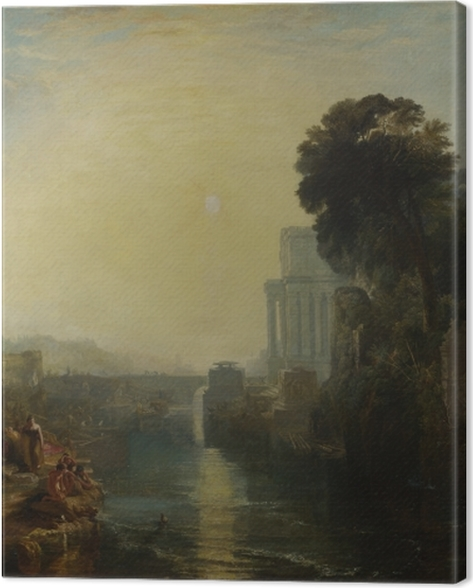 Leinwandbild William Turner - Der Untergang des karthagischen Reichs - Reproduktion
