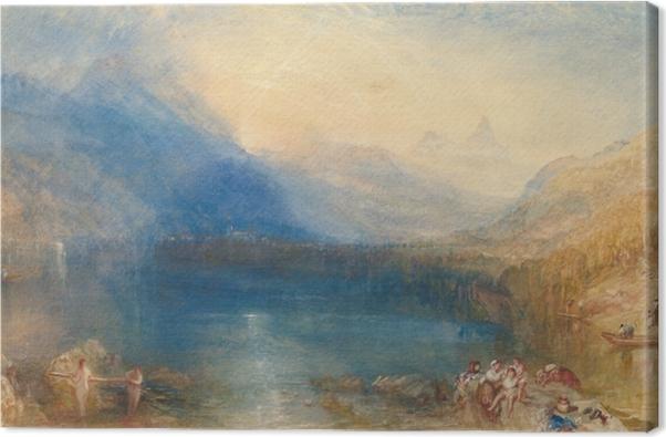 Leinwandbild William Turner - Der Zuger See am frühen Morgen - Reproduktion