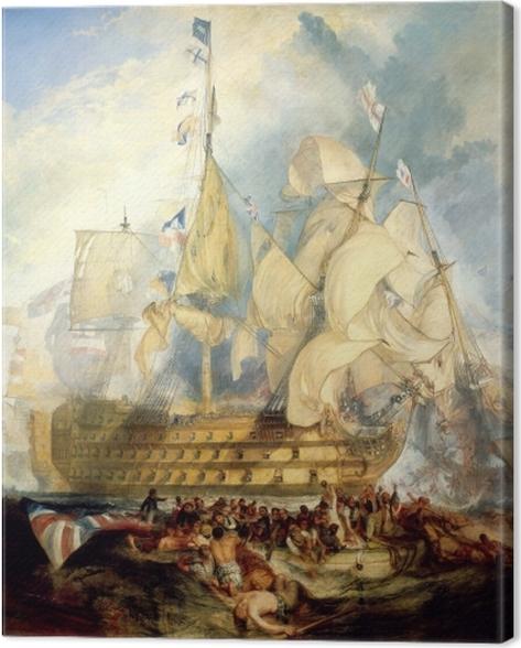 Leinwandbild William Turner - Die Schlacht von Trafalgar - Reproduktion