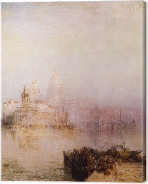Leinwandbild William Turner - Dogana und Santa Maria della Salute in Venedig - Reproduktion
