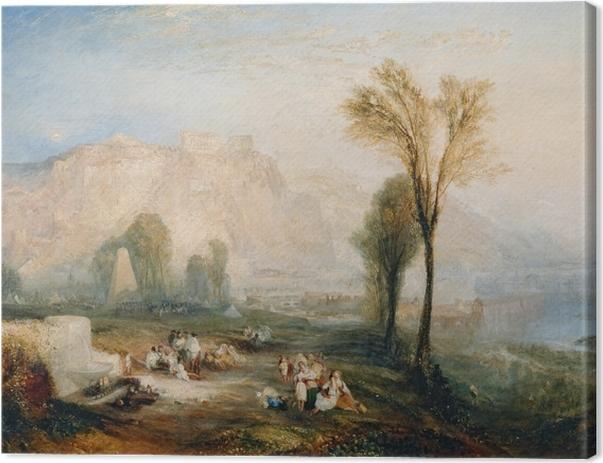 Leinwandbild William Turner - Ehrenbreitstein und Gruft von Marceau nach Byrons 'Childe Harold' - Reproduktion