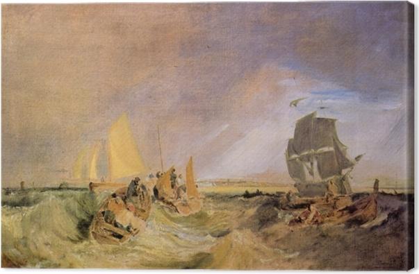 Leinwandbild William Turner - Flotte an der Mündung der Themse - Reproduktion