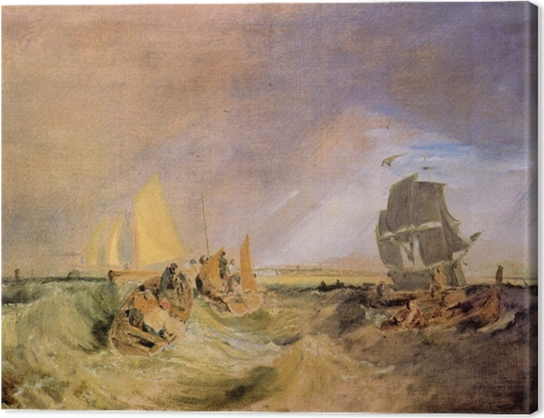 Leinwandbild William Turner - Flotte an der Mündung der Themse - Reproduktion