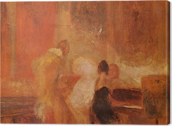 Leinwandbild William Turner - Musikgesellschaft in East Cowes Castle - Reproduktion