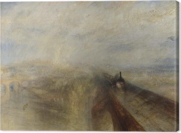 Leinwandbild William Turner - Regen, Dampf und Geschwindigkeit – die Great Western Railway - Reproduktion