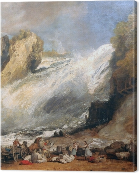 Leinwandbild William Turner - Rheinfall bei Schaffhausen - Reproduktion