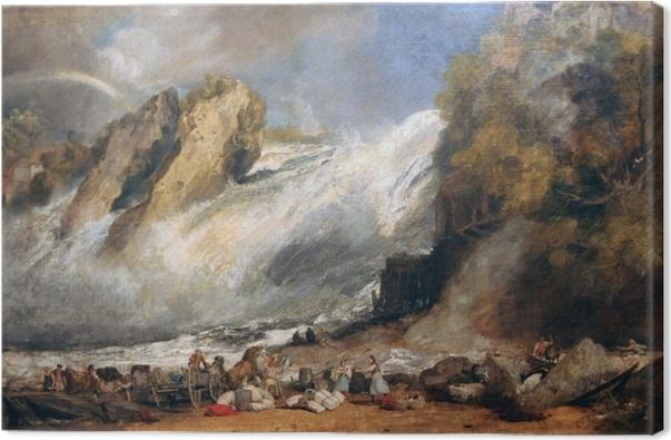 Leinwandbild William Turner - Rheinfall bei Schaffhausen - Reproduktion