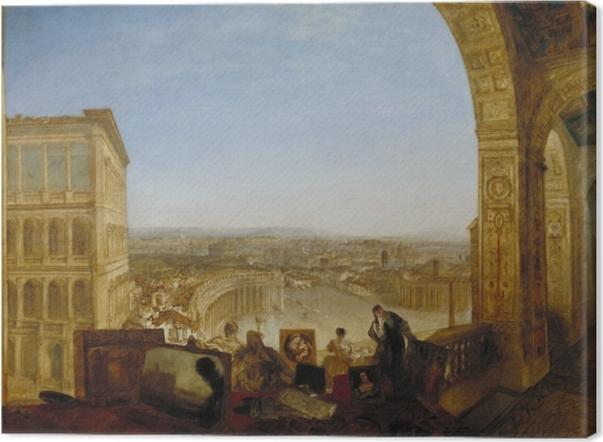 Leinwandbild William Turner - Rom, vom Vatikan aus gesehen - Reproduktion