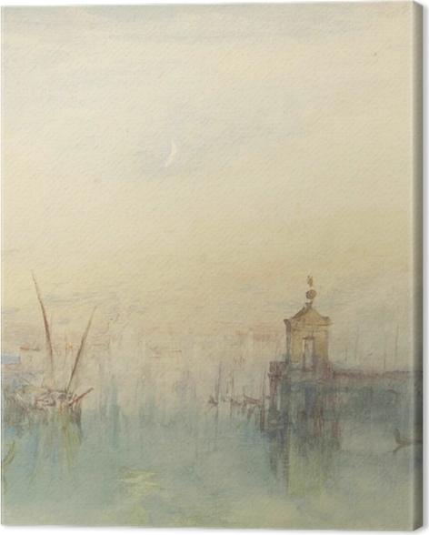 Leinwandbild William Turner - San Giorgio Maggiore, Sonnenuntergang - Reproduktion