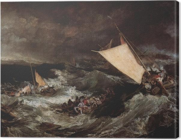 Leinwandbild William Turner - Schiffbruch - Reproduktion