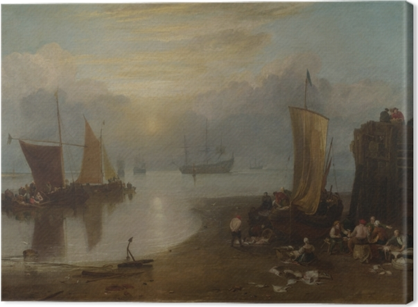 Leinwandbild William Turner - Sonnenaufgang im Dunst - Reproduktion