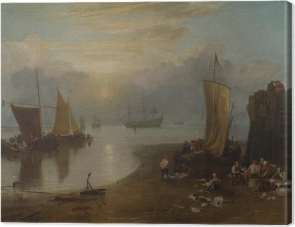 Leinwandbild William Turner - Sonnenaufgang im Dunst - Reproduktion