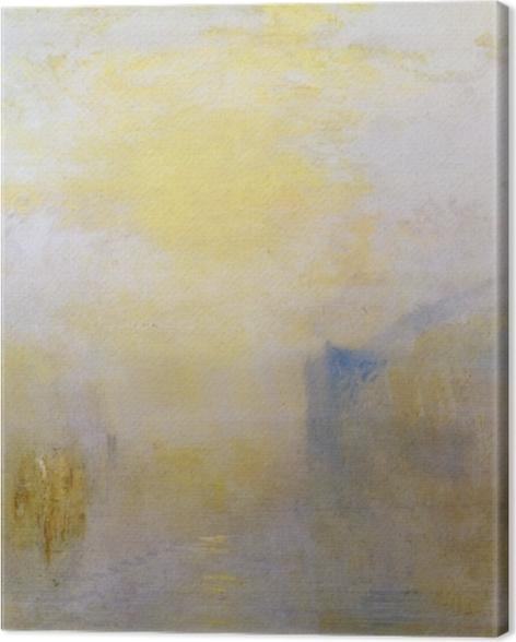 Leinwandbild William Turner - Sonnenaufgang mit einem Boot zwischen Landzungen - Reproduktion