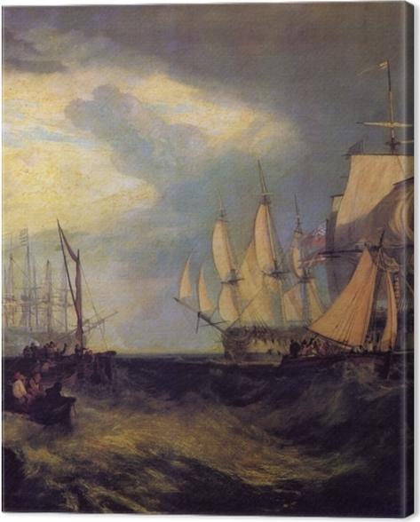 Leinwandbild William Turner - Spithead; Die Besatzung lichtet den Anker - Reproduktion