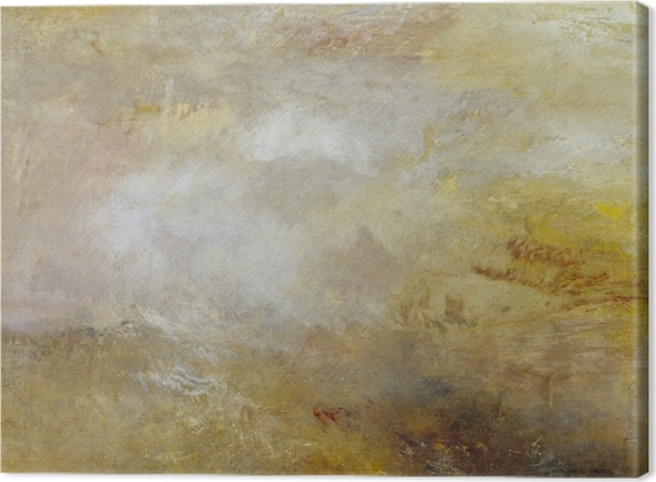 Leinwandbild William Turner - Stürmische See mit Delphinen - Reproduktion