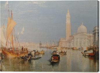Leinwandbild William Turner - Venedig - Dogana und San Giorgio Maggiore