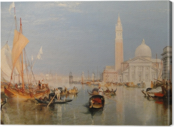 Leinwandbild William Turner - Venedig - Dogana und San Giorgio Maggiore - Reproduktion