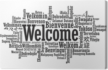 Leinwandbilder Willkommen In Verschiedenen Sprachen Pixers Wir