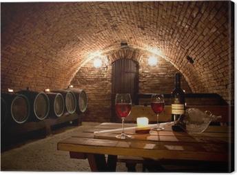 Leinwandbild Wine cellar