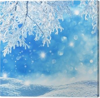Leinwandbild Winter Background
