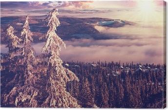 Leinwandbild Winter in Norwegen