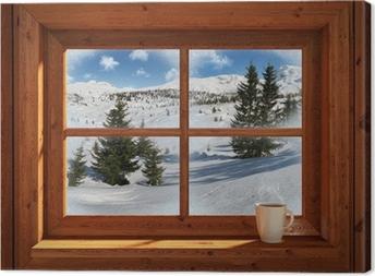 Leinwandbild Winter landschaft