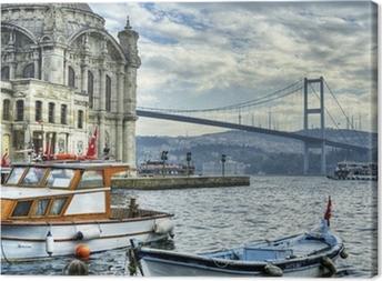 Leinwandbild Wo zwei Kontinente treffen: istanbul
