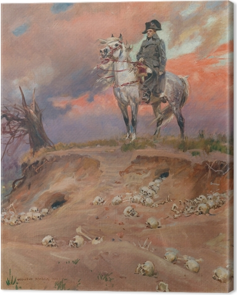 Leinwandbild Wojciech Kossak - Napoleon auf dem Schlachtfeld - Reproductions